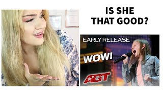 Voice Teacher |Reaction Simon Cowell Has Ansley Burns Sing  Twice,  - America's Got Talent