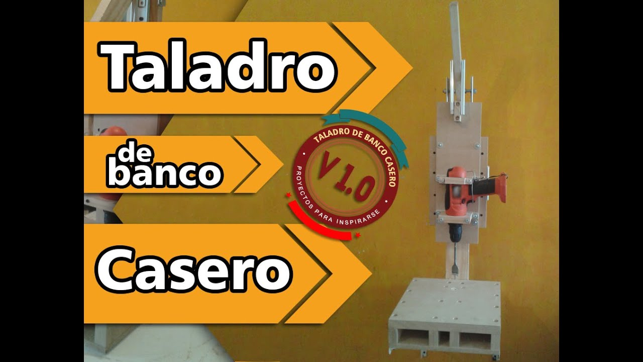 Taladro de banco casero v 1 0 youtube - Taladro de la madera ...