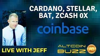 Coinbase To Add New Coins? Cardano, Stellar, BAT, ZCash 0x