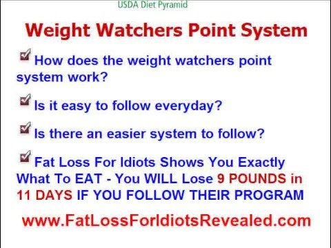 Weight Watchers Point System - Does It Work?
