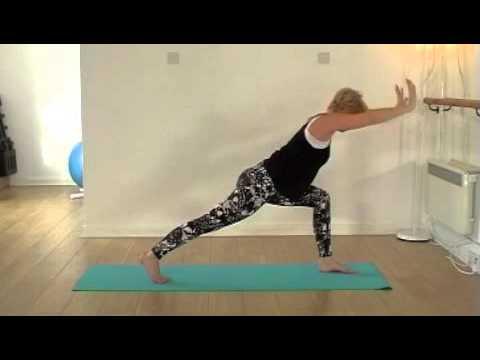 sun salutations sequence from vinyasa flow beginners yoga