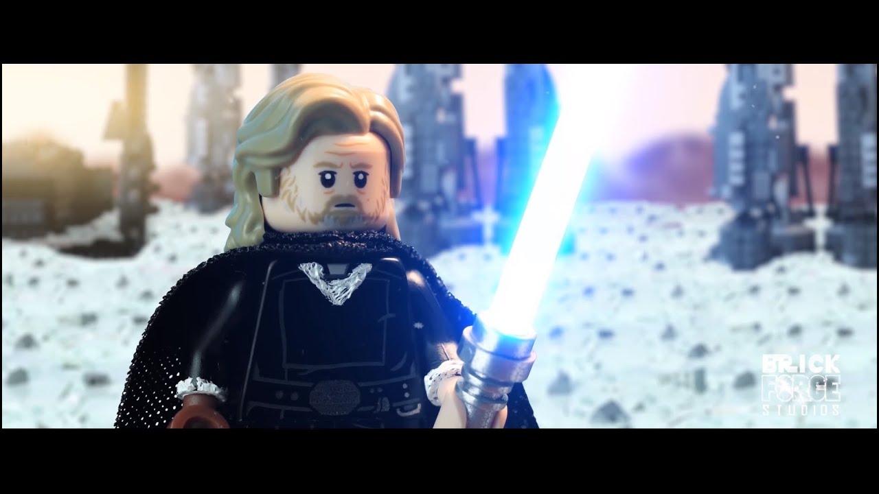 Lego Star Wars The Last Jedi Luke Skywalker Vs Kylo Ren Scene Re Creation Youtube