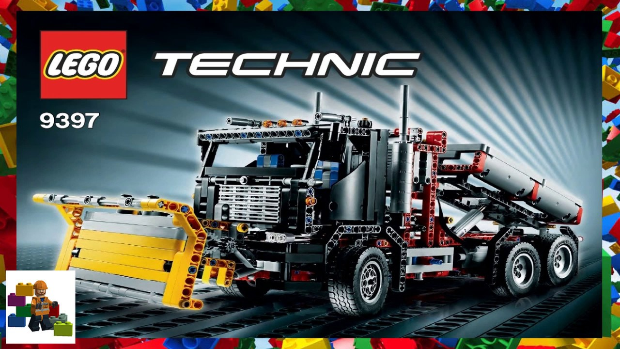 Lego Instructions Technic 9397 Container Truck With Snowplow