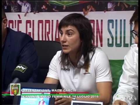 ONTV: Ternana Femminile – Presentazione Maite Garcia – Conferenza stampa
