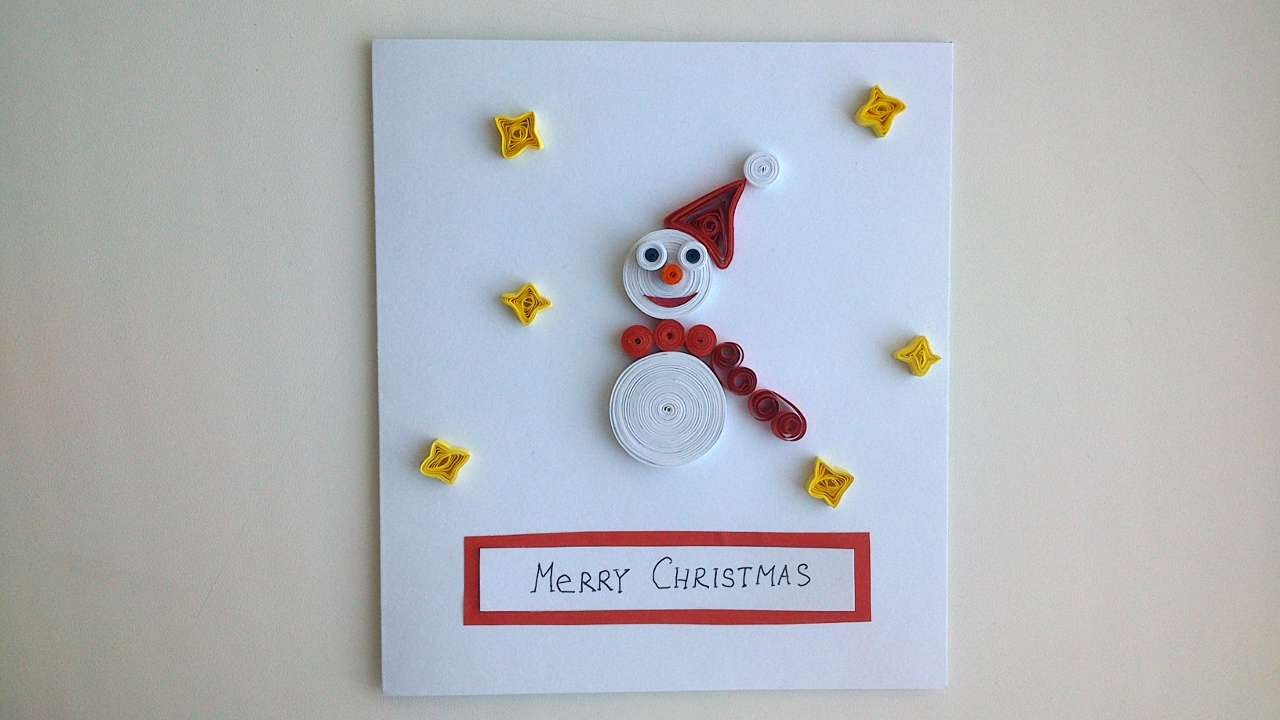 Snowman Christmas Cards Ideas.How To Make A Christmas Card With A Snowman Diy Crafts Tutorial Guidecentral