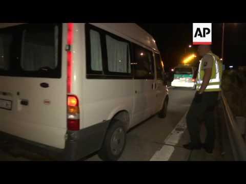 Slovakian police search vehicles at border