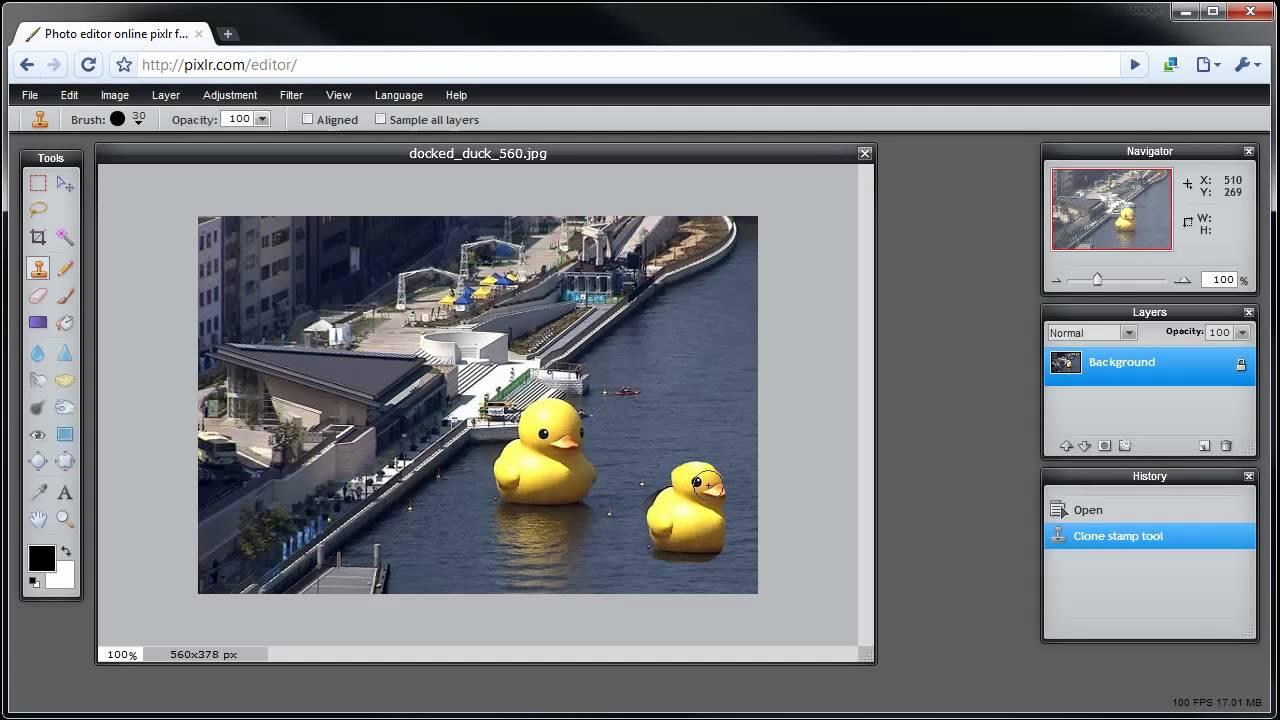 Pixlr Tutorial Use Clone Tool Youtube
