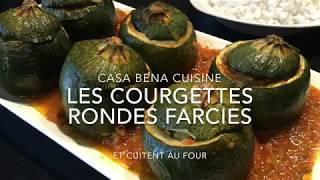 Les courgettes rondes farcies et cuitent au four ( recette d'été, recette légère )