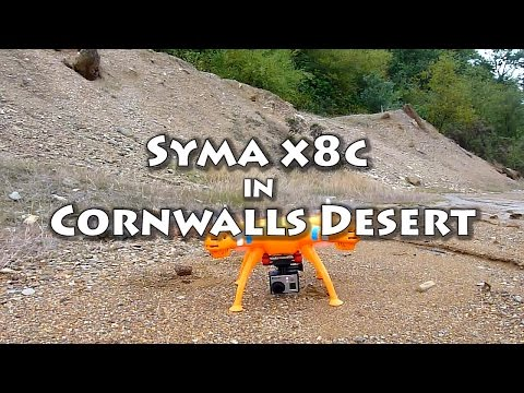 History of Cornish Mining - Syma X8C with GoPro Cornwalls Desert