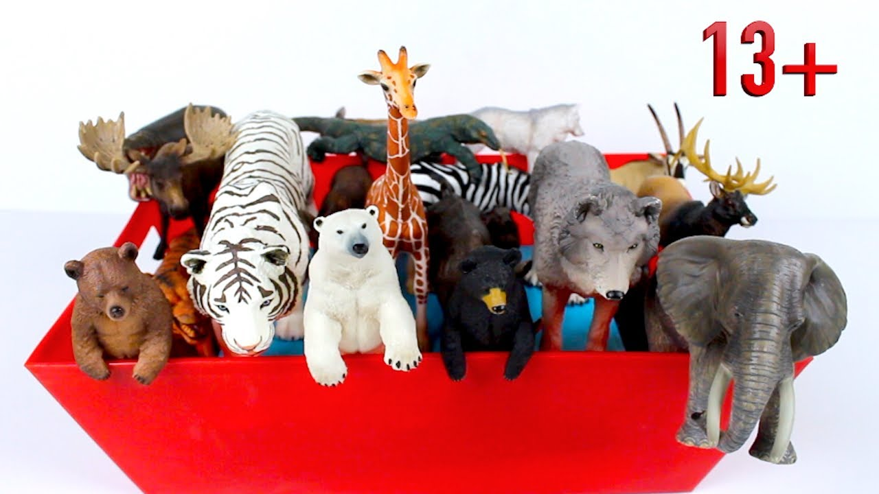 Zoo and Wild Animals - Lion Elephant Hippo Zebra Giraffe Rhino Bear 13+