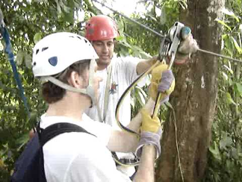 The Drake Bay Canopy Tour, Costa Rica, first cable