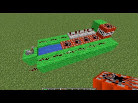 Minecraft - How to make a TNT Cannon - 5 Steps - YouTube