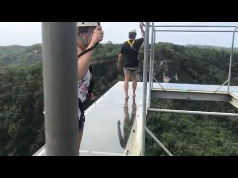 SCARY GLASS WALKING IN THE PHILIPPINES-  DANAO, BOHOL w\ Aheezy