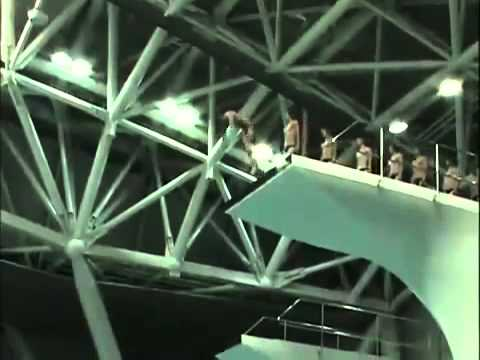 Chinese diving team training