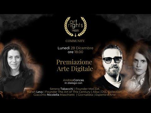 Premiazione Categoria Arte Digitale Art Rights Prize 2020 #LIVE