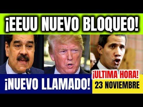 VENEZUELA HOY 23 NOVIEMBRE Guaido convoca EEUU bloquea demandantes Venezuela Ultimas Noticias