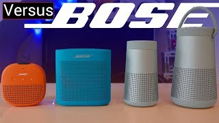 Bose Portable Speaker Lineup Explained