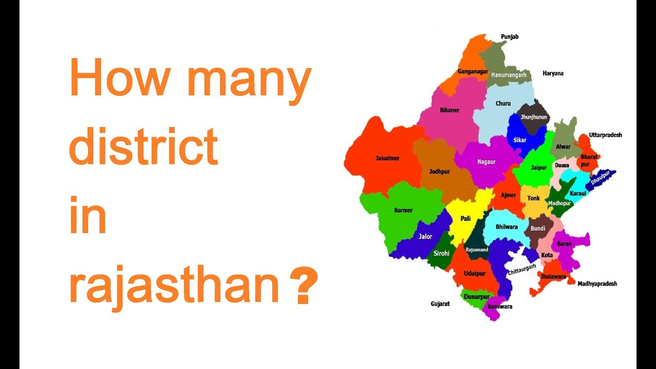 How many district in rajasthan?