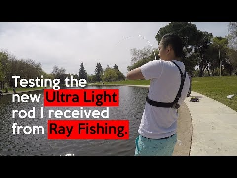 Hagan Park Trout Fishing (Testing The New Rod I Received From Ray Fishing)