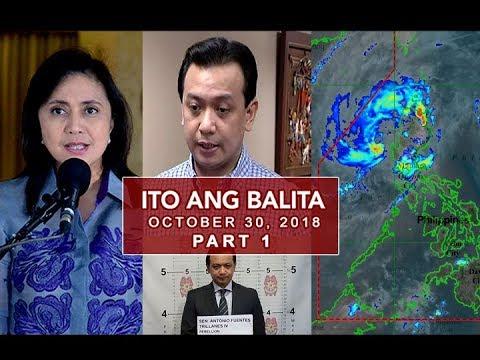UNTV: Ito Ang Balita (October 30, 2018) PART 1
