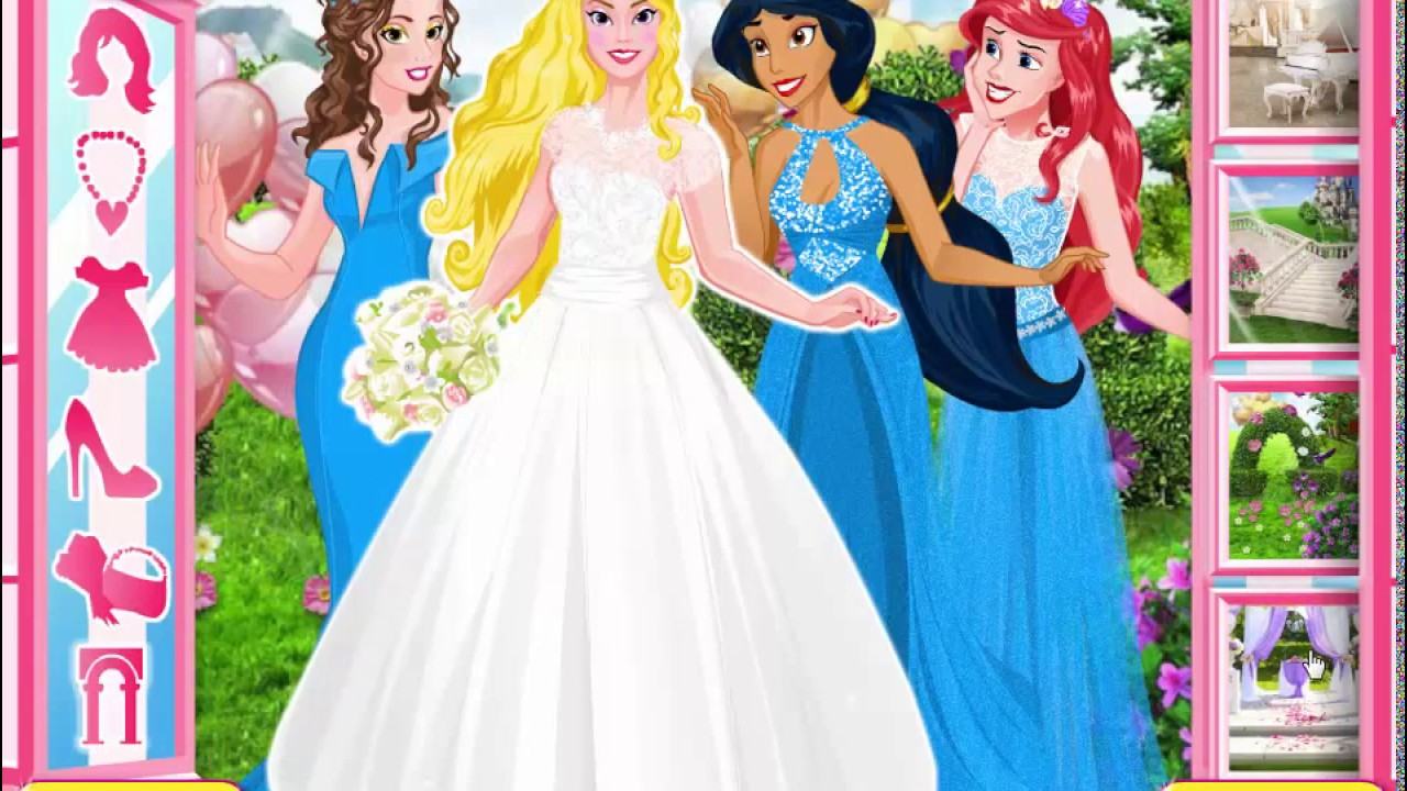 Disney princess bridesmaids game youtube disney princess bridesmaids game ombrellifo Gallery