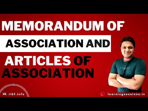 Memorandum of association and Articles of association Indian Companies Act 1956 in detail