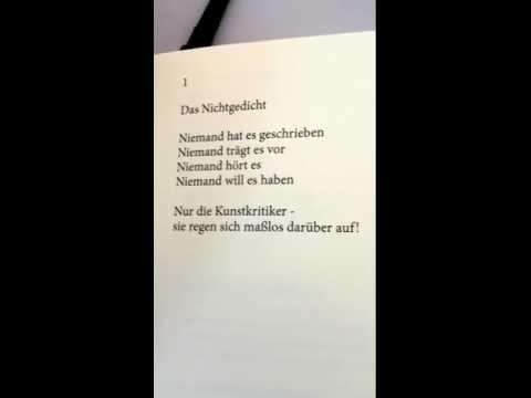 Das Nichtgedicht von Bernhard Carre Naso