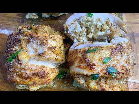 Stuffed Baked Fish With Cheesy Shrimp & Lump Crabmeat
