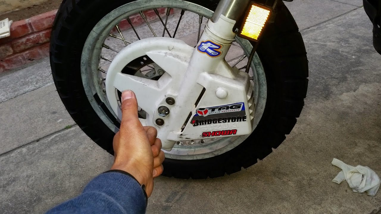 How to Replace Front Brake Pads on 1G Kawasaki KLR650