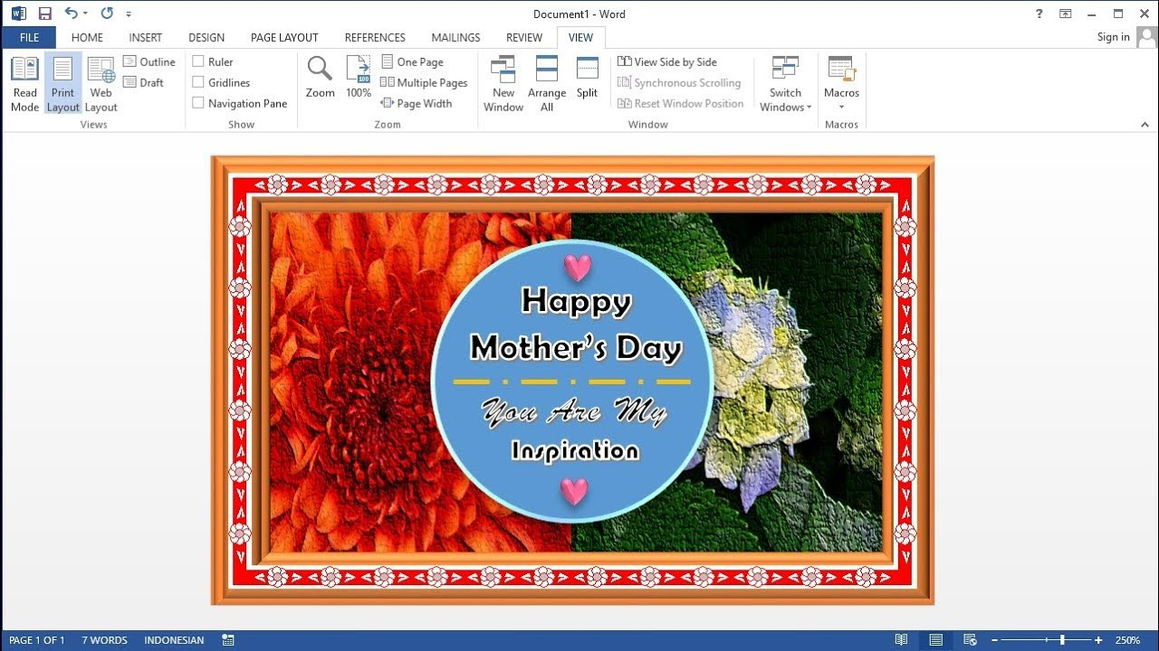 Mother's Day Card Template Word from i.ytimg.com