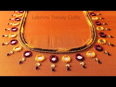Mirror And Kundan Work Blouse Design Simple Aari Maggam Work Youtube,Gorgeous Lehenga Blouse Designs 2020 For Girl