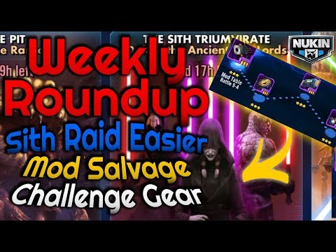 Update News: Earn Mod Salvage in an Easier Sith Raid + Challenge Gear | Star Wars: Galaxy of Heroes