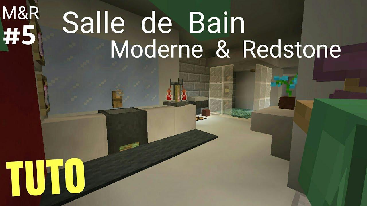 TUTO Minecraft Maison Moderne & Redstone Part.5 : Salle de Bain PS4 ...