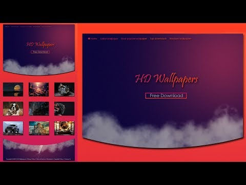 how to design and make professional HD wallpaper website in photoshop cc and cs6 2017