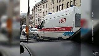 На улице Московской в Минске столкнулись четыре автомобиля