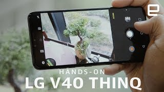 LG V40 ThinQ Hands-On: 5 cameras on a phone