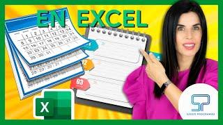 ✅ Crea tu CALENDARIO AGENDA en Excel  sin macros paso a paso