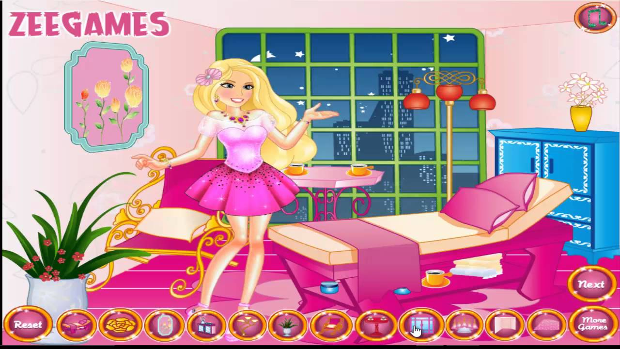 barbie bedroom games. barbie bedroom decoration games home