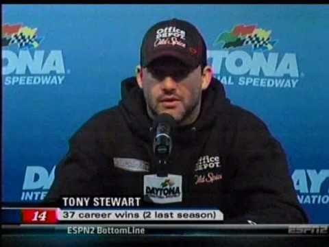 Tony Stewart owns reporter