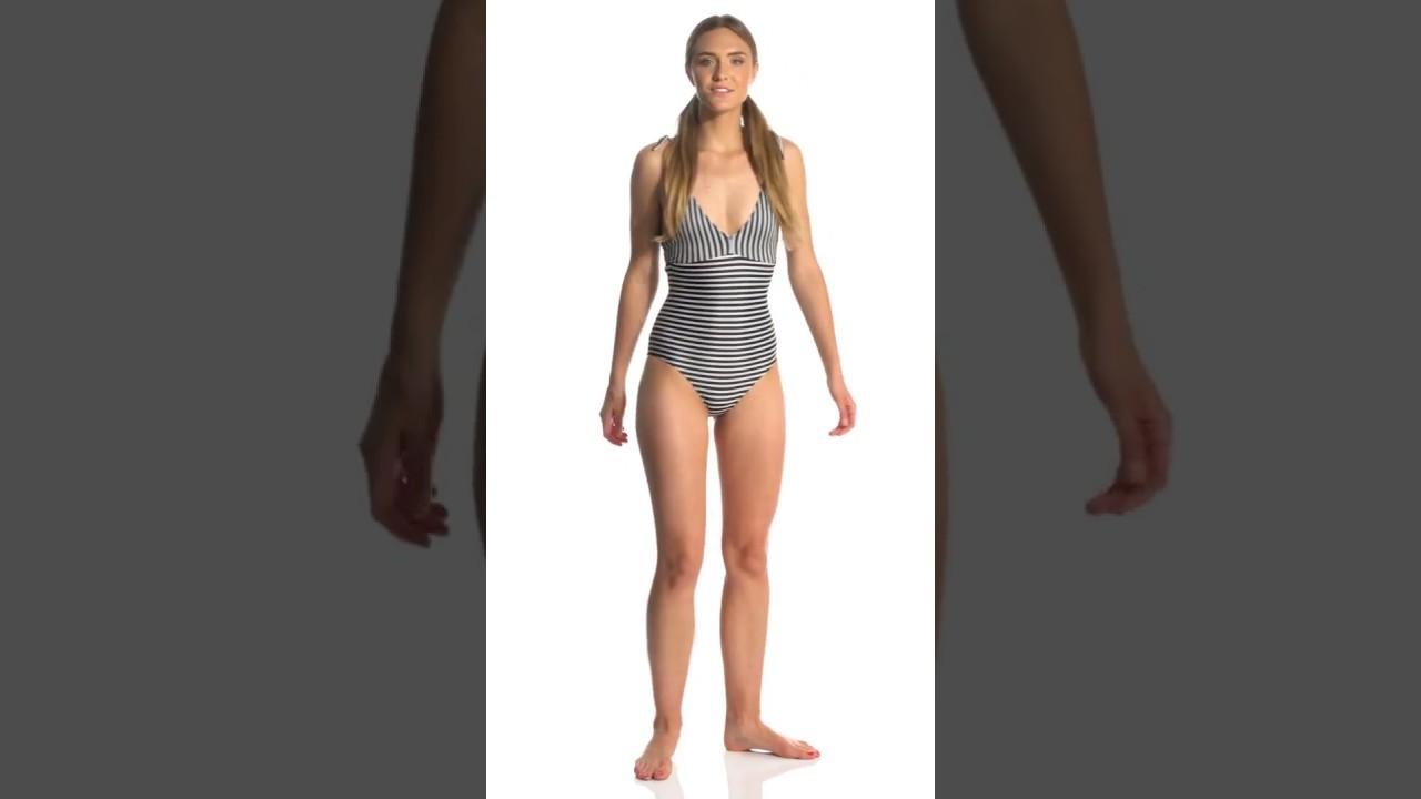 7930ea3b3c Seea Ivory Stripe Kirra One Piece Swimsuit | SwimOutlet.com - YouTube