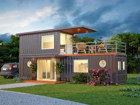 Two Story Shipping Container Home Building