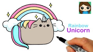 How to Draw Rainbow Unicorn Pusheen