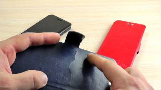 ОБЗОР: Стильный Кожаный Чехол-Книжка для Samsung Galaxy A5 (A510) 2016 года с Подставкой