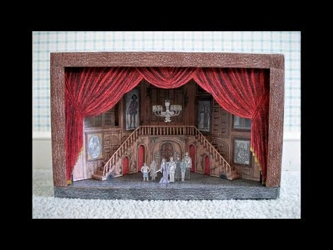 Paper Model of The Addams Family Musical (Broadway Scenic Design)