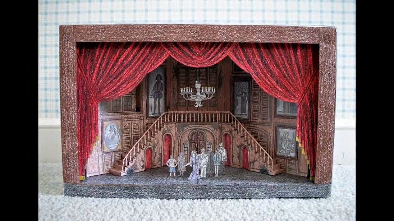 Papercraft Paper Model of The Addams Family Musical (Broadway Stage Set Design)