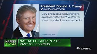Trump's China tweet is going to lead to a short squeeze, says Jim Cramer