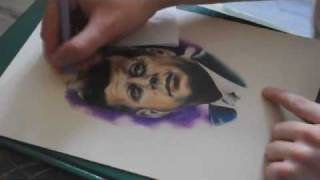 JFK Speed Drawing (With Color Pencil)