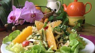 Dandelion Salad With Mustard Orange Dressing ~ Live Entrée