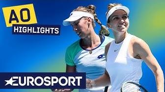 Simona Halep vs Elise Mertens Highlights   Australian Open 2020 Round 4   Eurosport