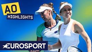 Simona Halep vs Elise Mertens Highlights | Australian Open 2020 Round 4 | Eurosport